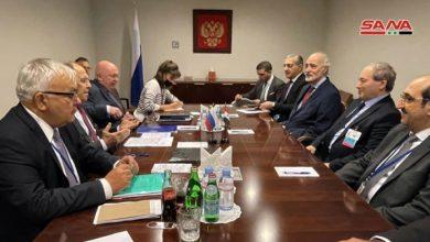 Photo of لقاء بين الوزير المقداد ولافروف: إنهاء التواجد الأجنبي غير الشرعي على الأراضي السورية