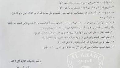 Photo of الثاني عشر من الشهر القادم انطلاق دوري محافظة السويداء للأشبال والناشئين بكرة القدم