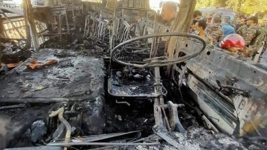 Photo of Fourteen martyrs, 2 injured in terrorist attack on military bus, Damascus