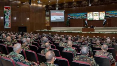 """Photo of President al-Assad visits Higher Military Academy in Damascus, meets graduates of 36th course of """"Command and Staff"""""""