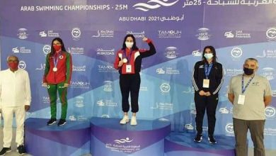 Photo of Second Gold medal for swimmer Inana at Arab Championship of UAE