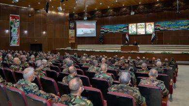 Photo of الرئيس الأسد لخريجي الأكاديمية العسكرية العليا بدمشق (قيادة وأركان): من يصنع تاريخ هذا الوطن هو القوات المسلحة